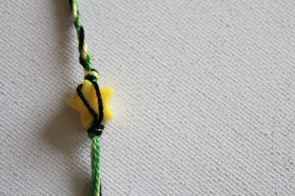 tie bead in place
