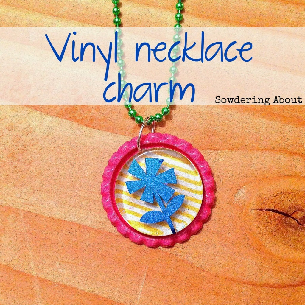 vinyl necklace charm