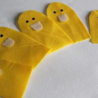 5 little ducks finger puppets tutorial