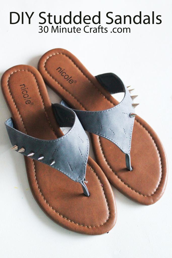 DIY Studded Sandals tutorial