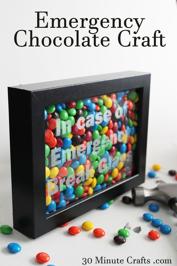 Craft Gift Ideas For Christmas Part - 47: Emergency Chocolate Craft On 30 Minute Crafts