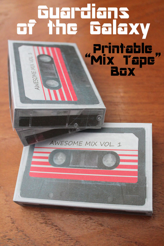 Guardians of the Galaxy Printable Mix Tape Box