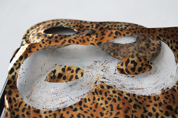 Leopard print from deco foil