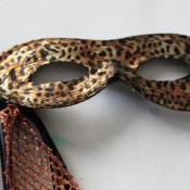 Lepoard print masquerade mask