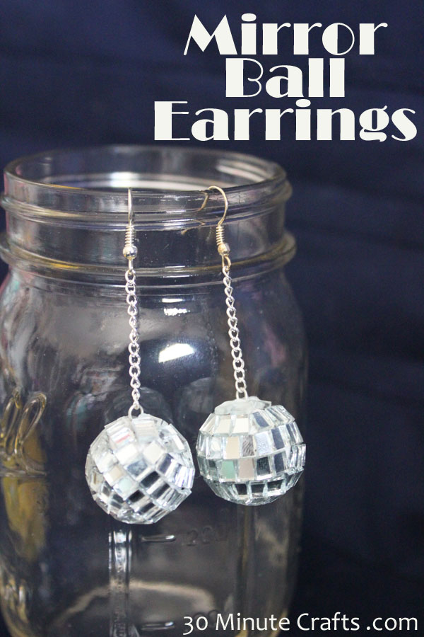 Mirror Ball Earring Tutorial