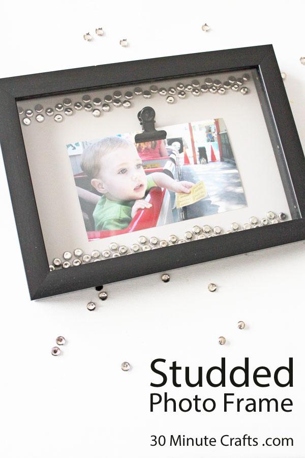 Studded Photo Frame DIY copy