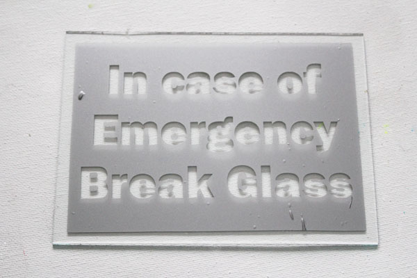 photo regarding In Case of Emergency Break Glass Printable named Unexpected emergency Chocolate Craft