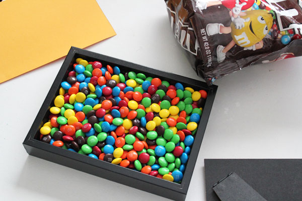 fill with M&Ms