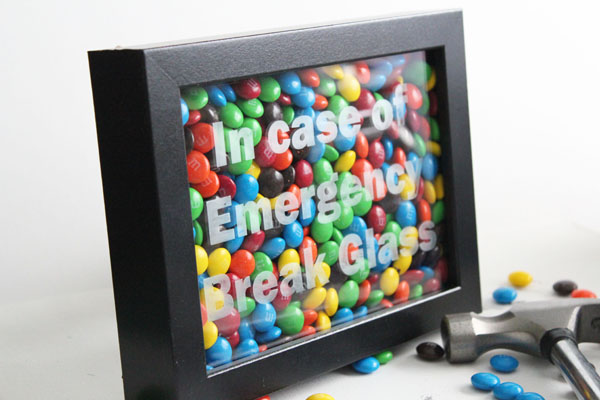 picture about In Case of Emergency Break Glass Printable titled Unexpected emergency Chocolate Craft