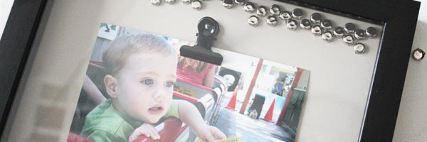 make your own studded photo frame