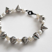 pearl and stud bracelet
