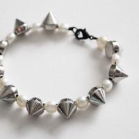 pearl and stud bracelet