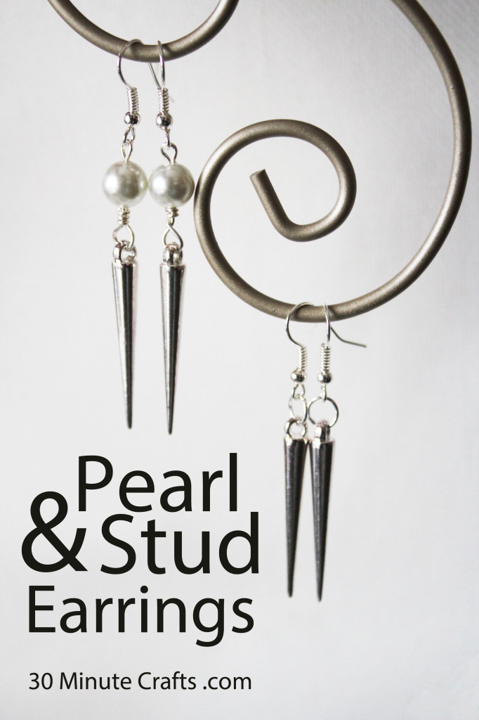 pearl and stud earring DIY
