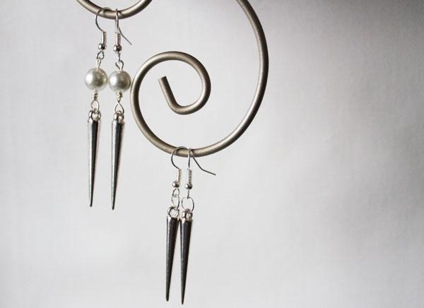 simple dangling stud earrings