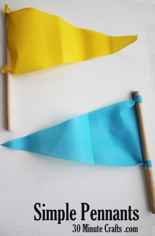 simple pennants tutorial - easy to make