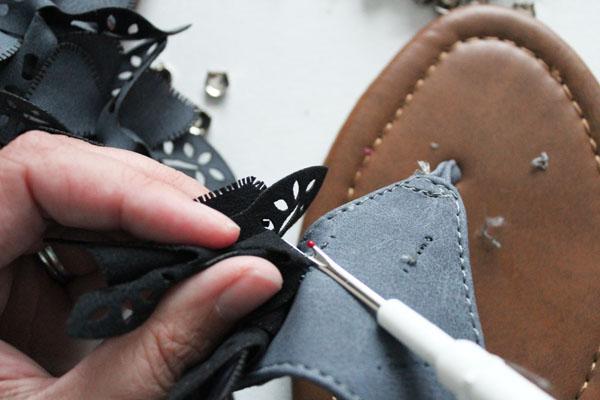 use seam ripper to remove embellishments