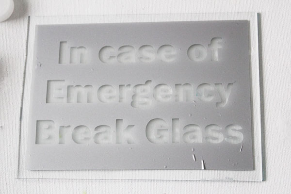 photograph regarding In Case of Emergency Break Glass Printable known as Crisis Chocolate Craft