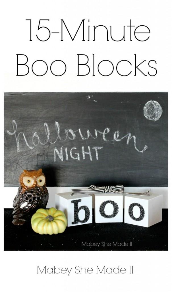 15 minute boo blocks