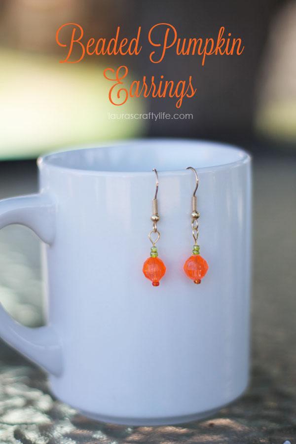 Beaded-Pumpkin-Earrings-by-Lauras-Crafty-Life