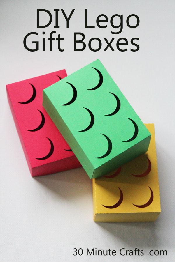 DIY Lego gift boxes