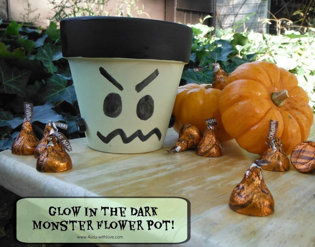 Glow in the Dark Monster Flower Pot