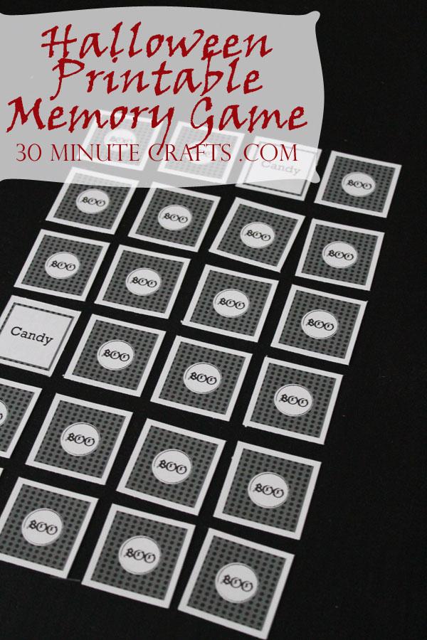 Halloween Printable Memory Game
