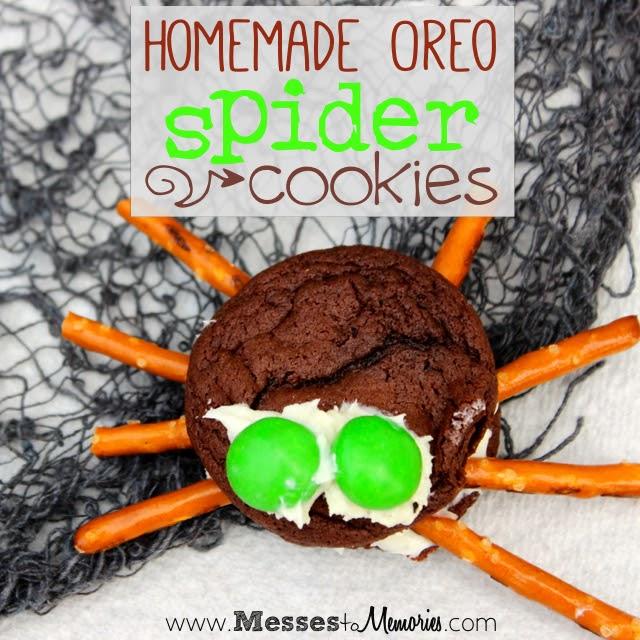 Homemade spider cookies