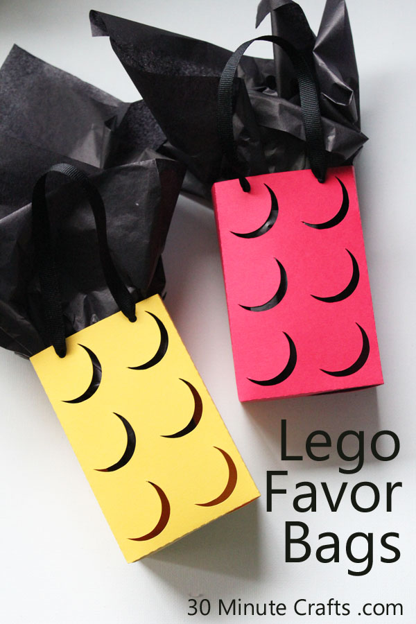 It is so easy to make your own Lego Favor bags for a Lego party