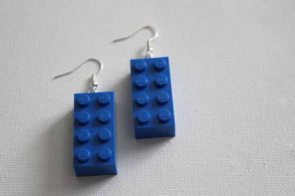 Making Lego earrings is simple