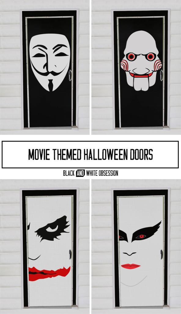 Movie-Themed-Halloween-Door-Decorations