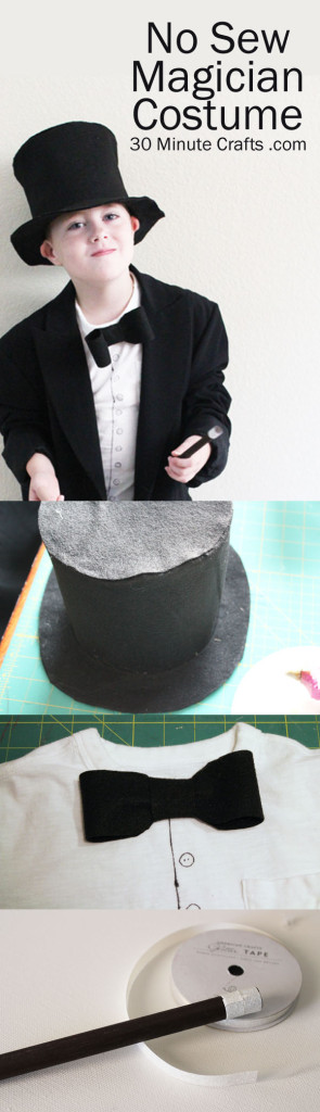 No Sew Magician Costume Tutorial on 30 Minute Crafts
