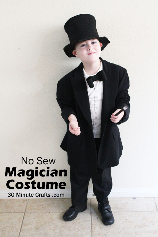 No Sew Magician cosume