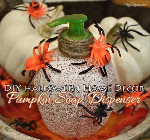 Pumpkin soap dispenser