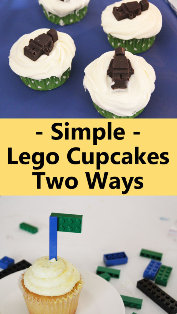 Simple Lego Cupcakes Two Ways
