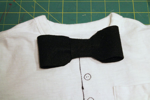 glue on bow tie