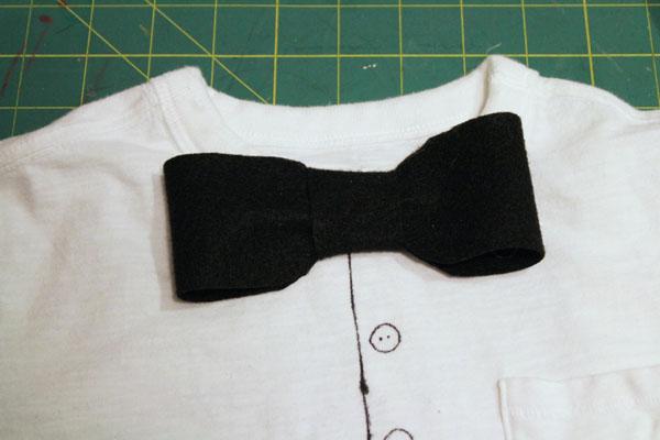 glue on bow tie