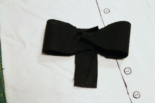 hot glue bow tie
