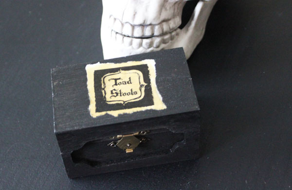 make your own halloween box for potion supplies