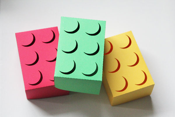 make your own lego gift boxes