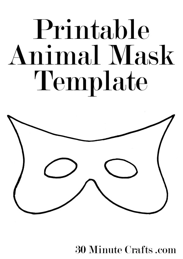 Printable halloween mask templates 30 minute crafts printable animal mask templates maxwellsz