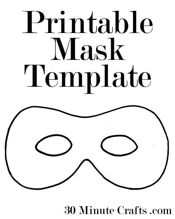 Printable halloween mask templates 30 minute crafts for Superhero mask template for kids