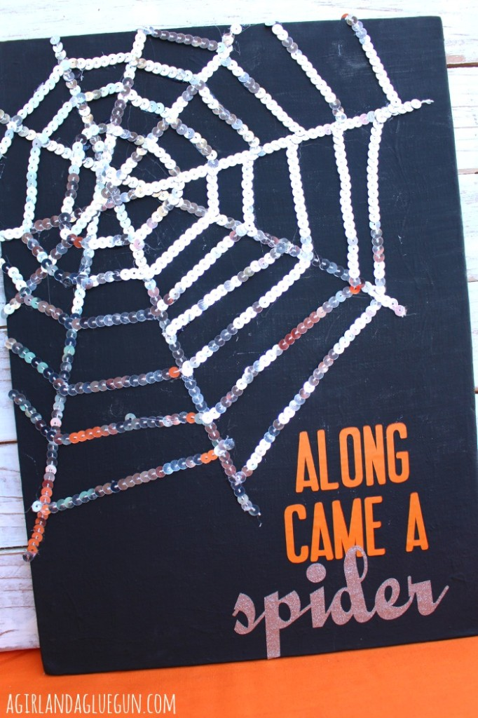 sequin spider web