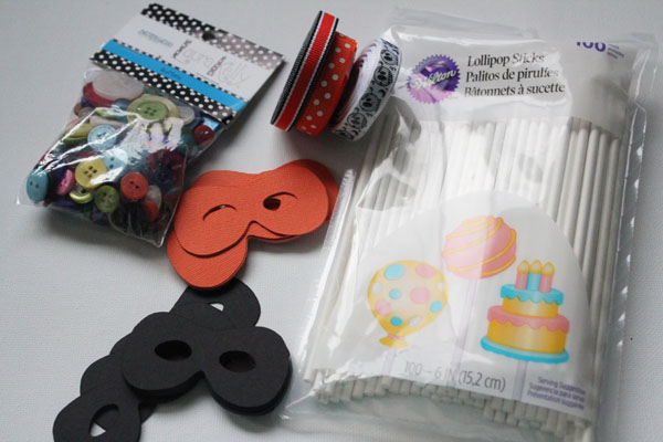 supplies for mask cupcake toppers