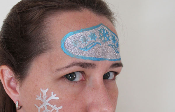 Glitter makeup frozen crown