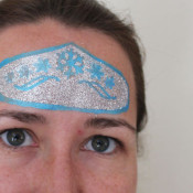 Glitter stenciled Elsa Crown from Frozen Movie