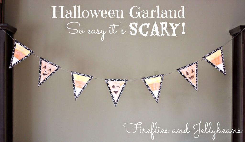 Halloween Garland at Fireflies and Jellybeans