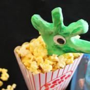 creepy hand in the popcorn