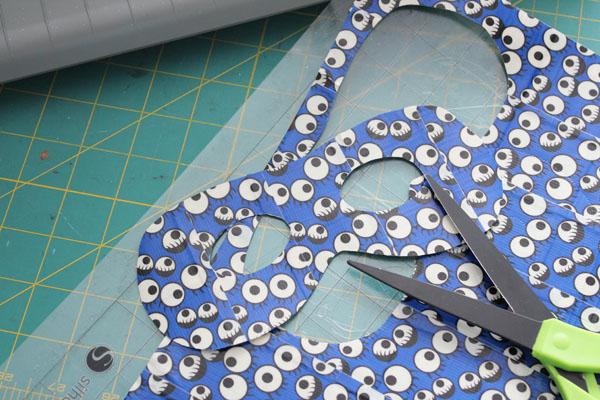 cut duck tape masks