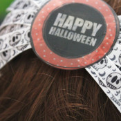 finished Halloween Hair bow