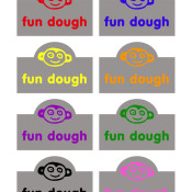 Fun Dough Labels